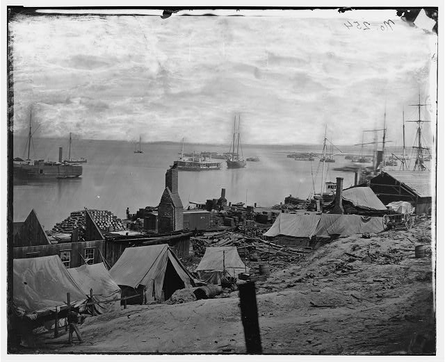 [City Point, Va. Wharves after the explosion of ordnance barges on August 4, 1864]
