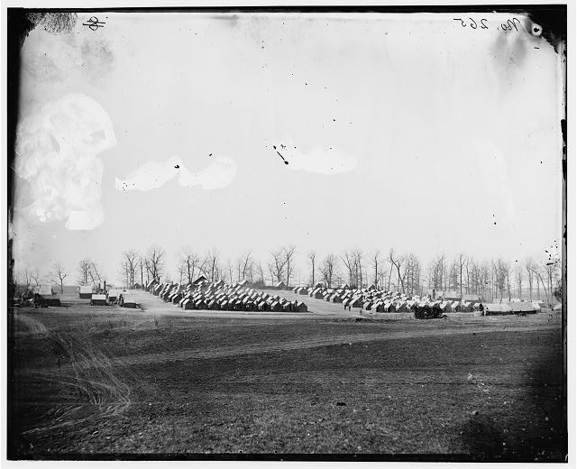 [Brandy Station, Va. General view of 6th New York Artillery encampment]