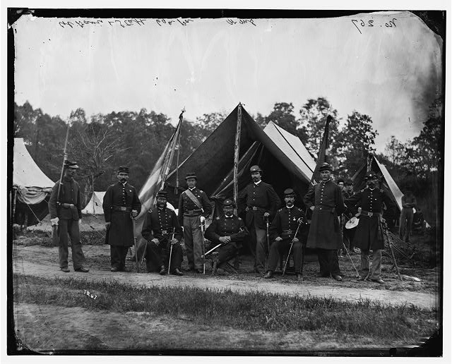 [Gettysburg, Pennsylvania]. Field and staff officers, 69th Pennsylvania