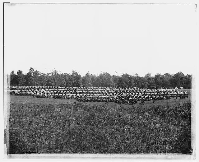 [Brandy Station, Va., vicinity. Large wagon park]