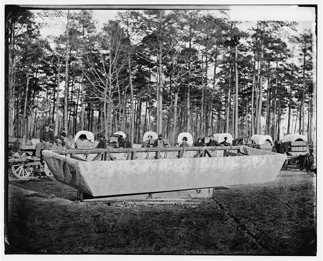 [Rappahannock Station, Va. Canvas pontoon boat, 50th New York Engineers]