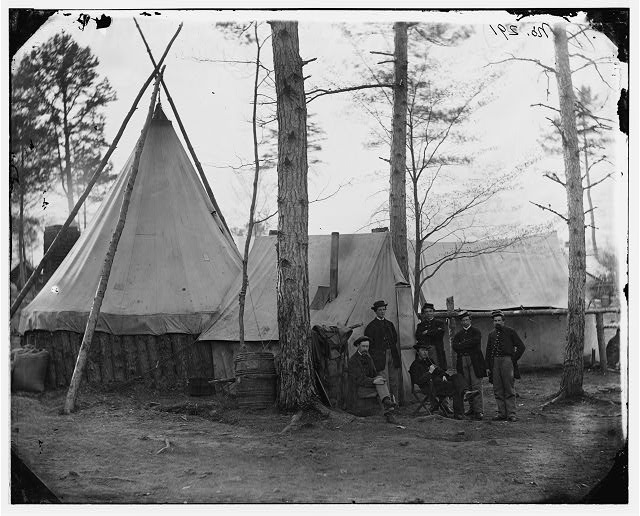 Brandy Station, Virginia. Provost Marshal clerks, headquarters, Army of the Potomac