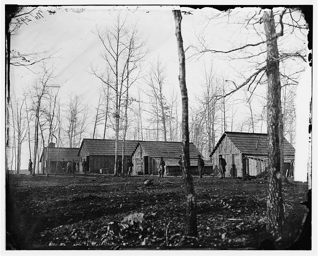 [Rappahannock Station, Va. Quarters of field and staff officers, 50th New York Engineers]
