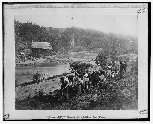 Jericho Mills, Virginia. 50th New York Engineers constructing road on south bank of North Anna River