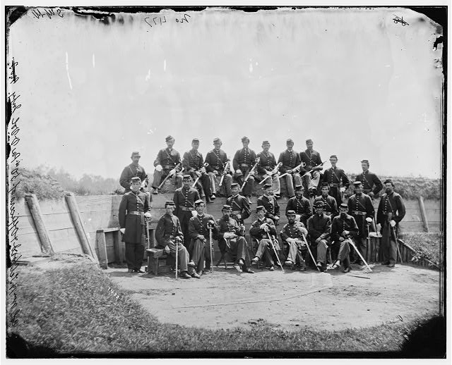 Arlington, Virginia. Col. William H. Telford and officers, 50th Regiment Pennsylvania Infantry at Fort Craig