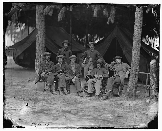 [Petersburg, Va. Military telegraph operators at headquarters]