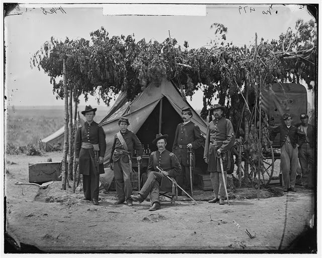 [Arlington, Va. Officers of Company F, 2d New York Artillery at Fort C.F. Smith]