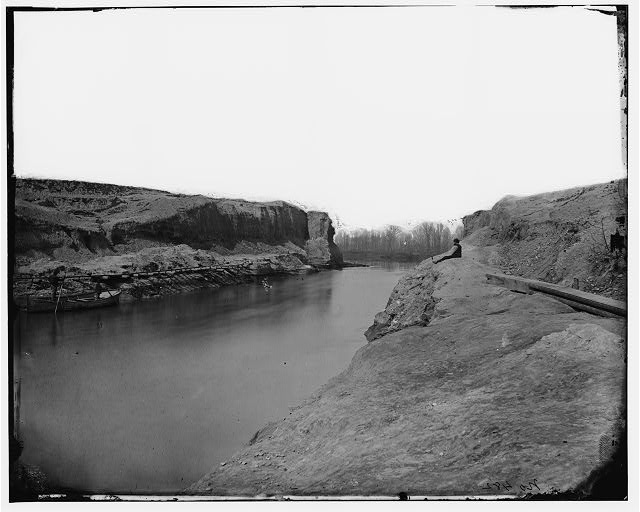 Dutch Gap Canal, Virginia. View of completed canal