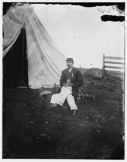 Gettysburg, Pennsylvania. Capt. [John J] Huff&#39;s clerk