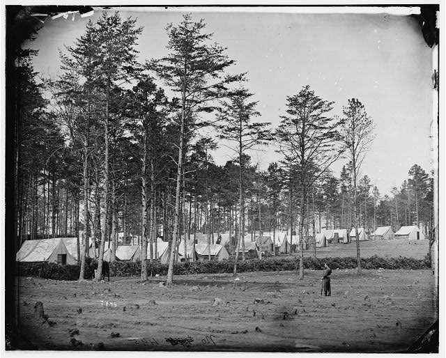Brandy Station, Virginia. Camp at headquarters, Army of the Potomac
