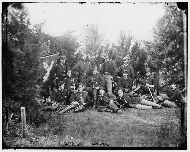 [Culpeper, Va. Gen Robert O. Tyler and staff of the Artillery Reserve; another view]