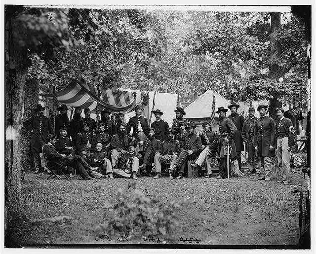 Bealeton, Virginia. Officers of 93d New York Infantry