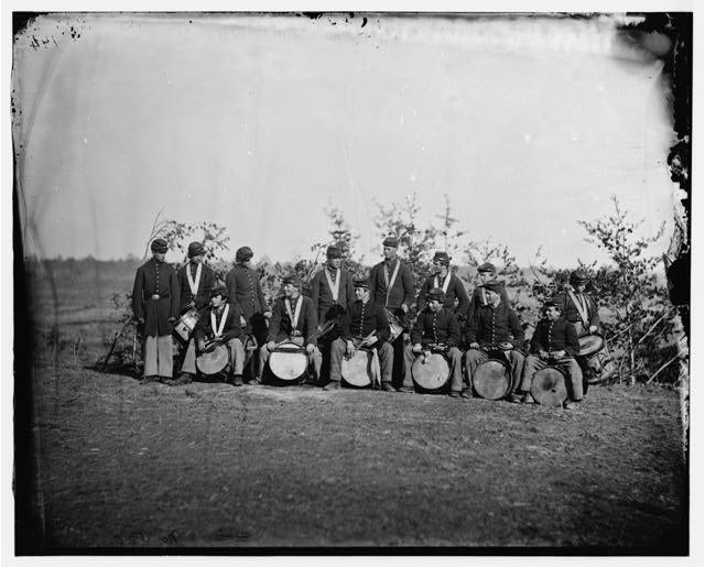 [Falmouth, Va. Drum corps of 61st New York Infantry]