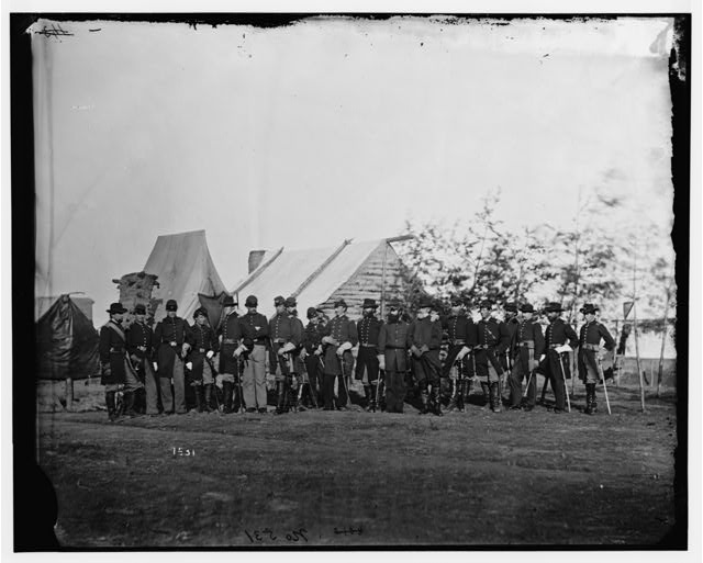 Falmouth, Virginia. Officers of 61st New York Infantry