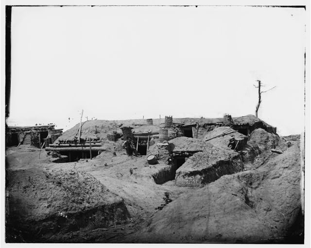 [Petersburg, Va. Interior of Fort Sedgwick]