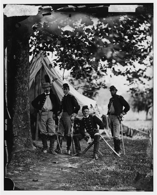 [Westover Landing, Va. Col.  William W. Averell, 3d Pennsylvania Cavalry, and staff]
