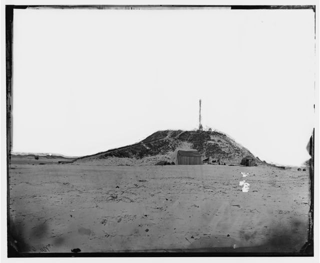 Fort Fisher, North Carolina. Battery Lamb looking from the south