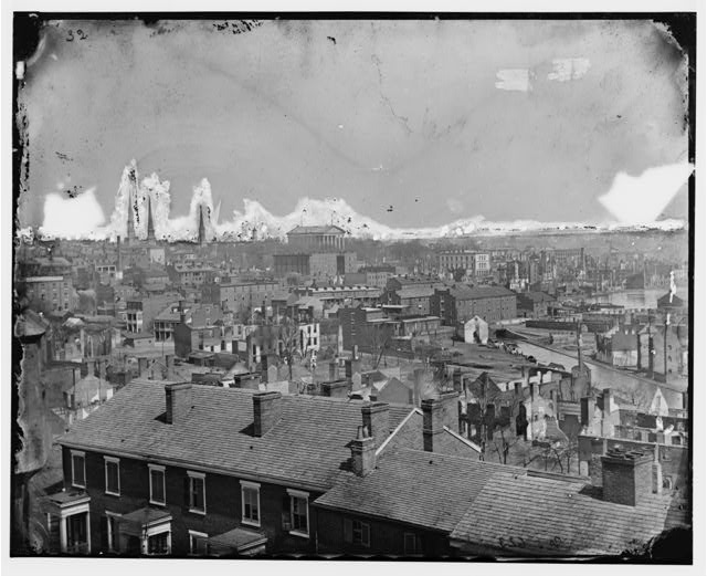 [Richmond, Va. General view, with ruins, from Gambles Hill]