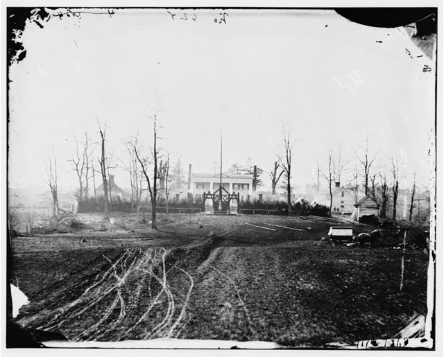 [Brandy Station, Va. House used as headquarters by Gen. David. B. Birney, commanding 1st Division, 3d Corps]