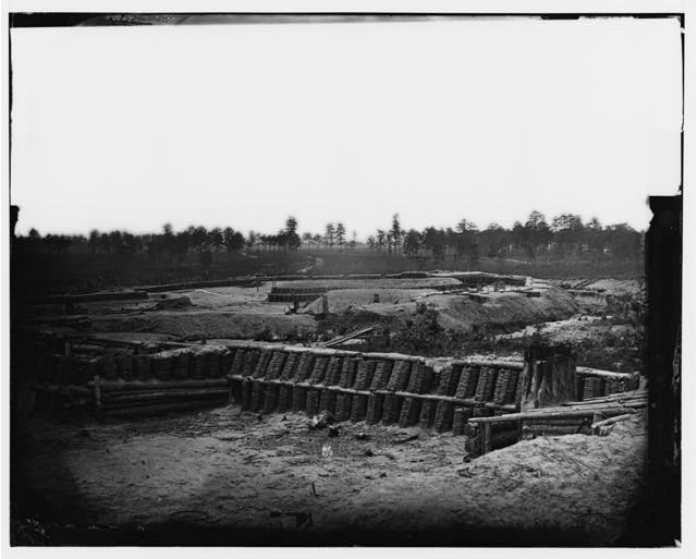 [Petersburg, Va. View from center of Fort Sedgwick looking south]
