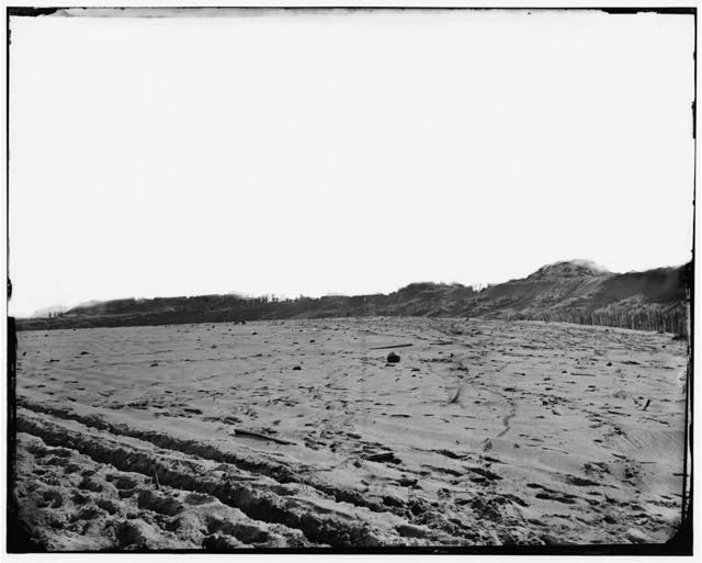 Fort Fisher, North Carolina. View on land face