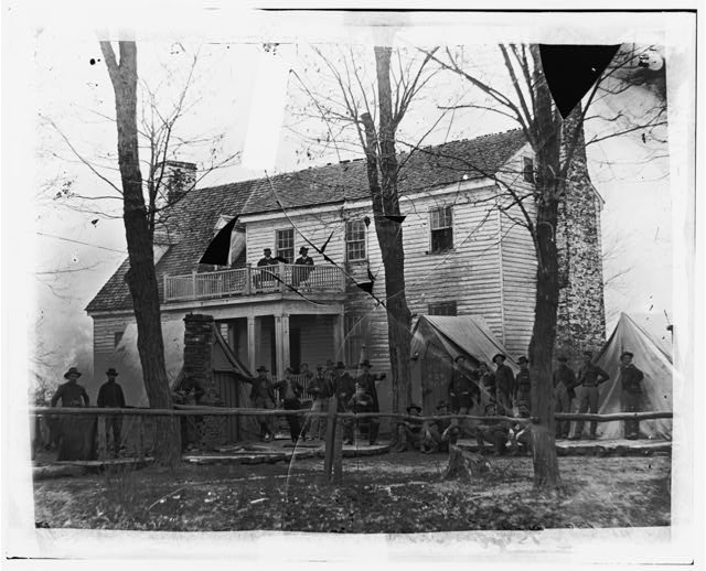 [Brandy Station, Va. Headquarters of ordnance officers and quartermaster, 3d Division, Cavalry Corps]