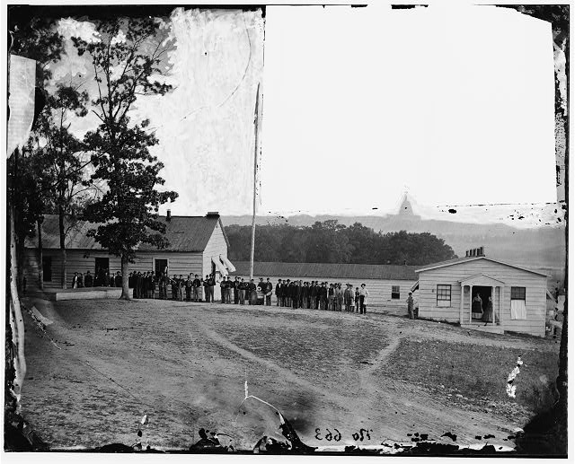 [Washington, D.C. Band before officers' quarters at Harewood Hospital]