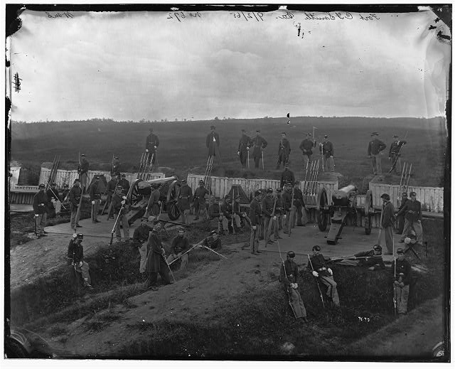 [Arlington, Va. Company F, 2d New York Artillery at Fort C.F. Smith]