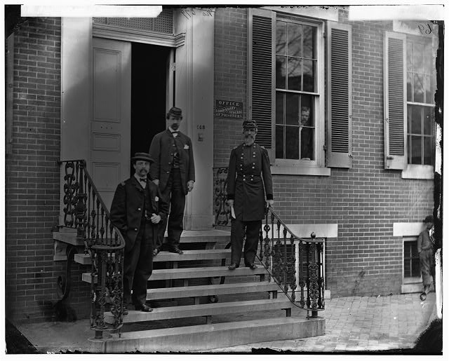 Washington, District of Columbia. Gen. William Hoffman (Commissary General of Prisoners) and staff