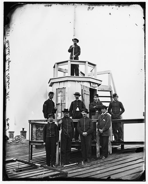 [Washington, D.C. Central Signal Station, Winder Building, 17th and E Streets NW, and Signal Corps men]