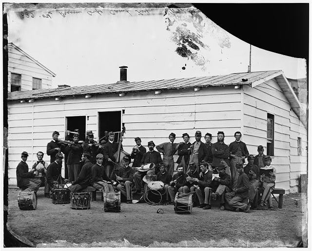 [Washington, D.C. Drum Corps of 10th Veteran Reserve Corps at leisure]