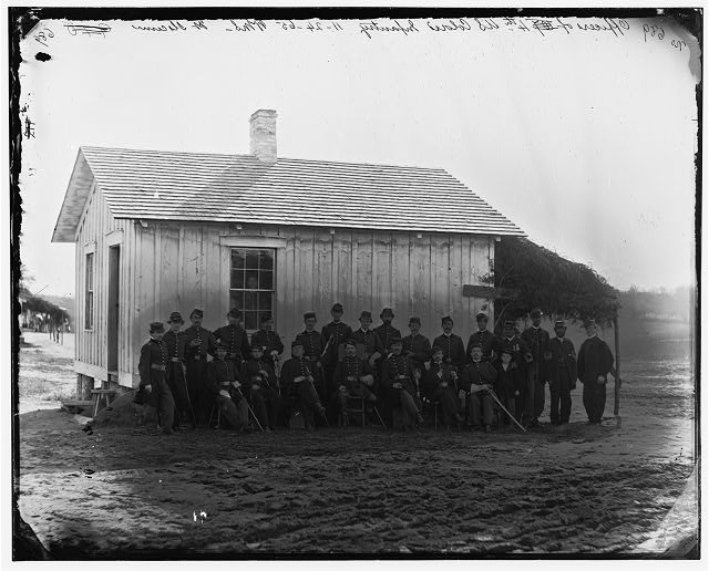 District of Columbia. Officers of 4th U.S. Colored Infantry at Fort Slocum