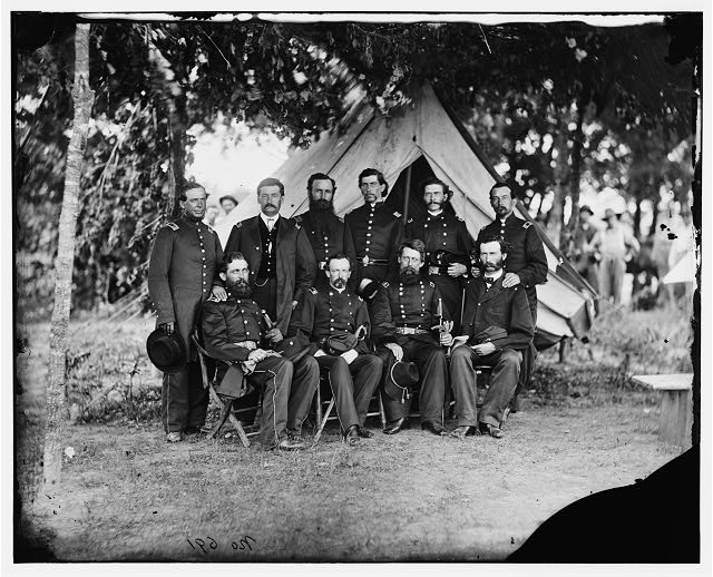 [Washington, District of Columbia]. Gen. Jefferson C. Davis and staff