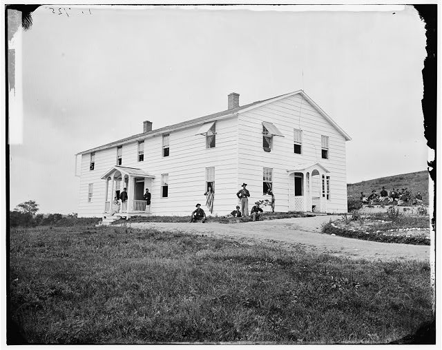 Washington, District of Columbia. Officers' quarters at Signal Corps camp near Georgetown
