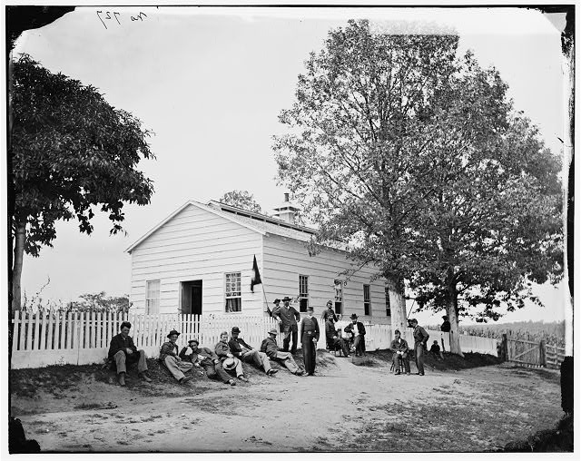 [Washington, D.C. Hospitals, Signal Corps camp quarters near Georgetown]
