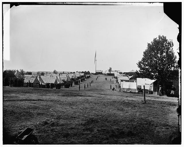 [Prospect Hill, Va. General view of 13th New York Cavalry camp]