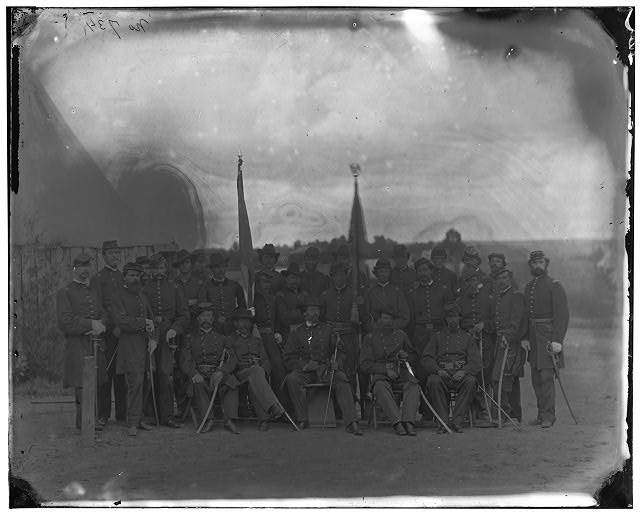 Prospect Hill, Virginia. Officers of 13th New York Cavalry