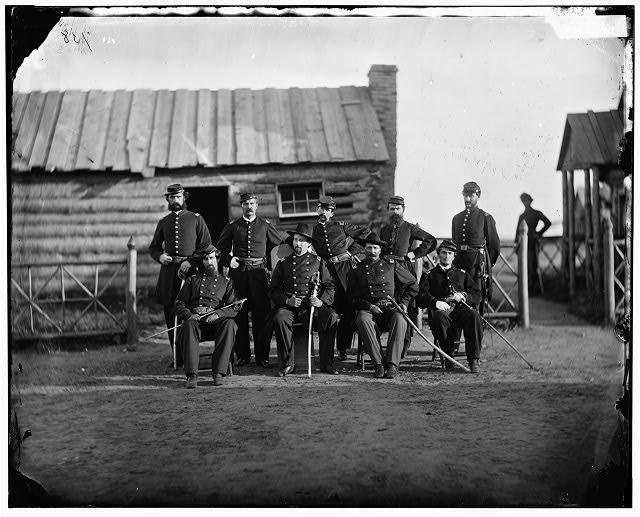 Prospect Hill, Virginia. Gen. Henry S. Gansevoort and staff