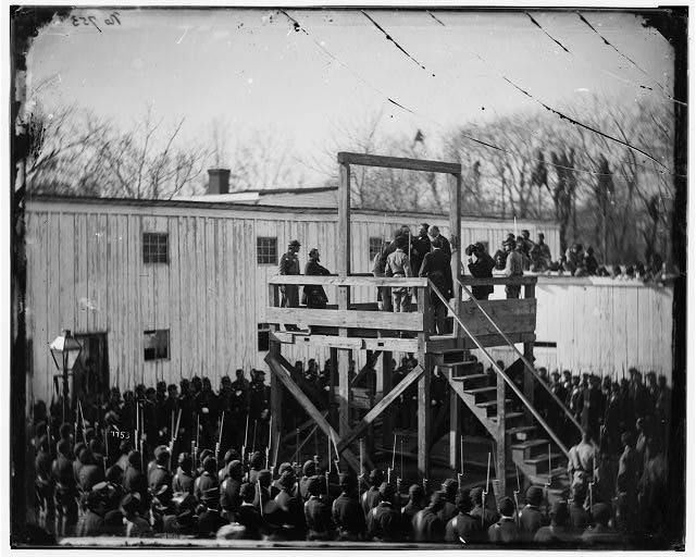 [Washington, D.C. Adjusting the rope for the execution of Wirz]