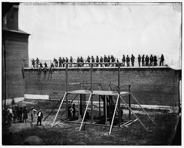 Washington, District of Columbia. Execution of the conspirators: View of the scaffold