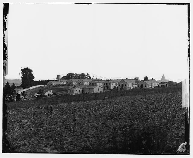 [Washington, D.C. General view of Harewood Hospital, on farm of W. W. Corcoran, 7th Street Road near Soldiers' Home]