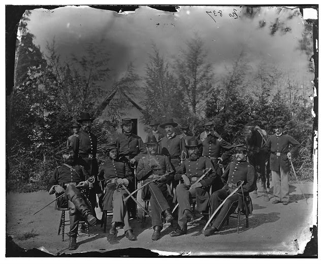 District of Columbia. Gen. William Gamble and staff at Camp Stoneman, the cavalry depot at Giesborough Point