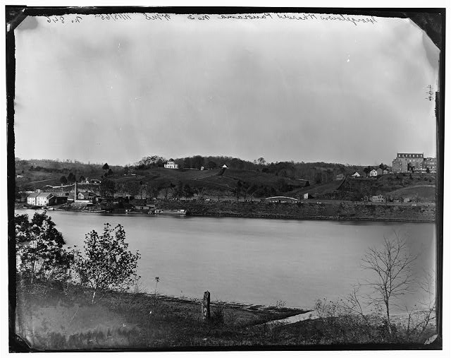 Washington, District of Columbia. View of Georgetown from across the river