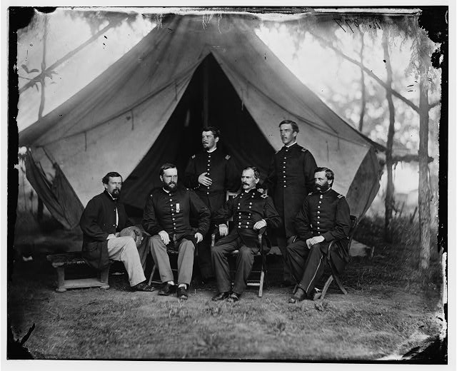 Washington, District of Columbia. Gen. William Hays and staff