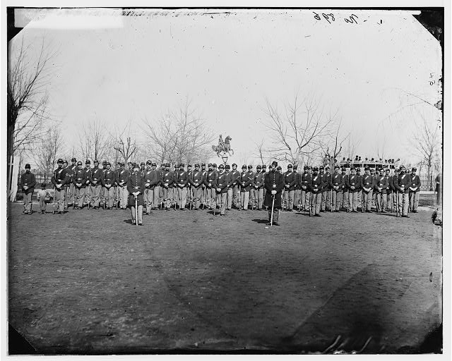 Washington, District of Columbia. Company C, 10th U.S. Veteran Reserve Corps, at Washington Circle