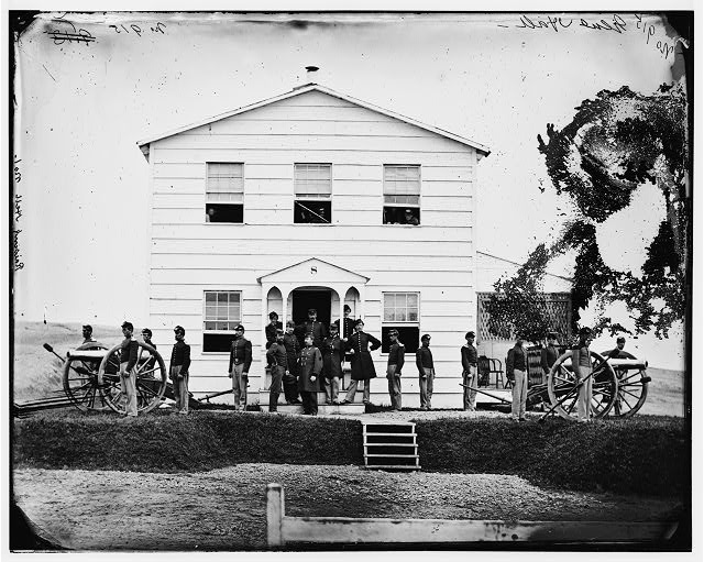 Washington, District of Columbia (vicinity). Gen. James A. Hall and staff