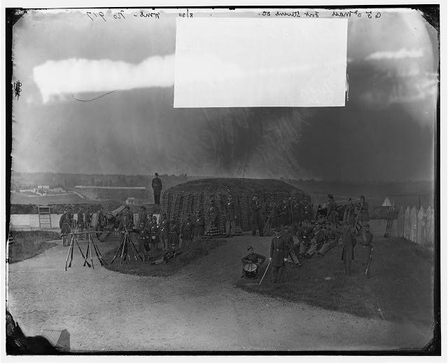 District of Columbia. Detachment of Company F 3d Regiment Massachusetts Heavy Artillery in Fort Stevens