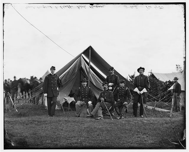 [Washington, District of Columbia (vicinity)]. Gen. Robert Nugent and staff. (Irish Brigade)