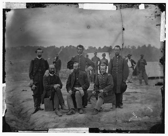 Petersburg, Virginia. Field and staff officers of 39th U.S. Colored Infantry