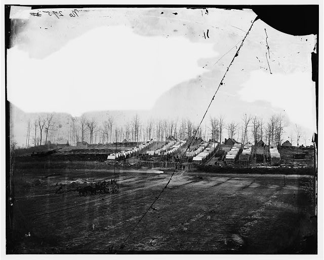 Rappahannock Station, Virginia. Winter camp of 50th New York Engineers